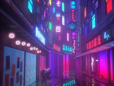 forgotten soul octane cinema4d scifi cyberpunk retrowave vaporwave