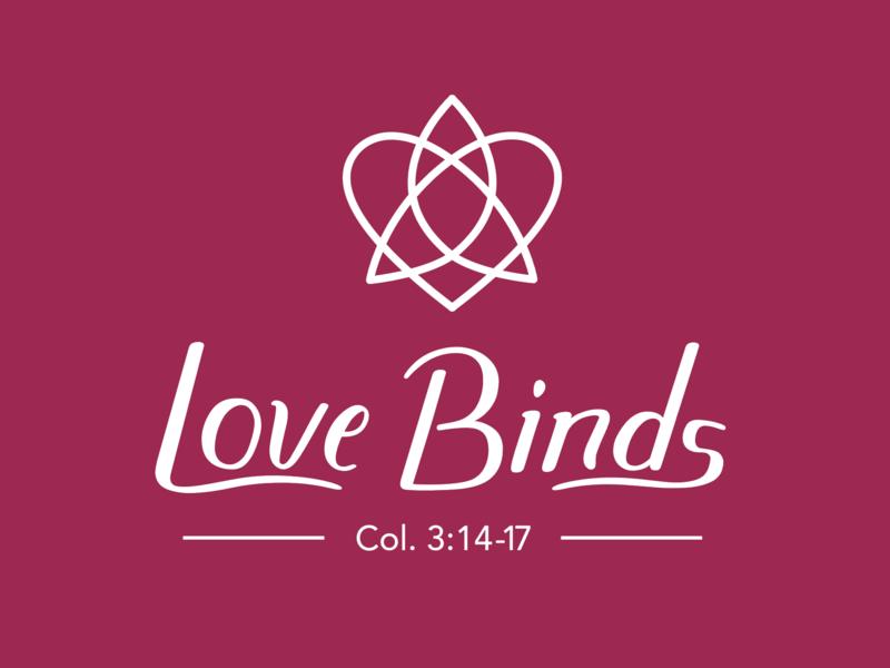 Love Binds design logo handlettering branding design