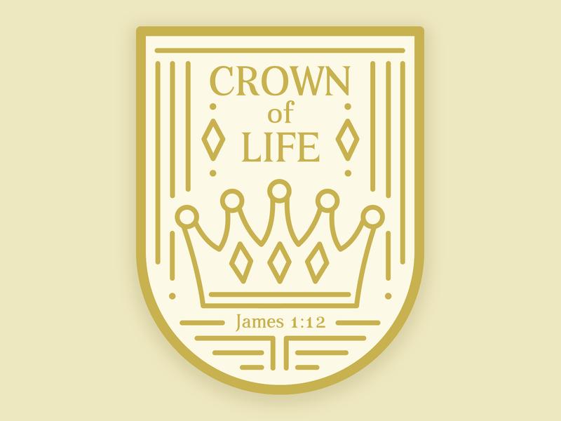 Crown of Life Sticker Design crown sticker mule sticker design vector logo illustration