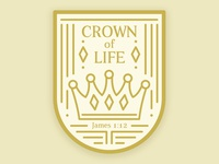 Crown of Life Sticker Design