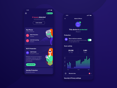 Avast Security & Privacy for iOS antivirus privacy security ux ui redesign realproject productdesign mobileapp iosapp ios avast dashboard clean application app