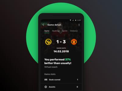 Football Tracker App - Game