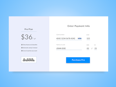 Credit Card Checkout - Daily UI 002 credit card credit card checkout payment checkout
