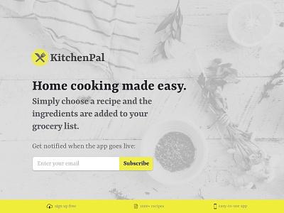 Landing Page - Daily UI 003 landing page daily ui kitchen