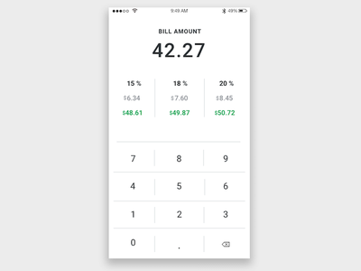 Tip Calculator - Daily UI 004 tip calculator daily ui calculator