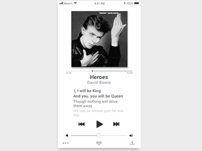 Music Player - Daily UI 009 music player day 9 daily ui