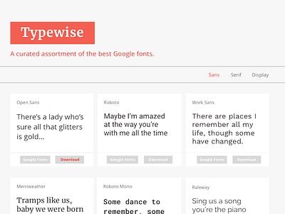 Typewise mvp google fonts
