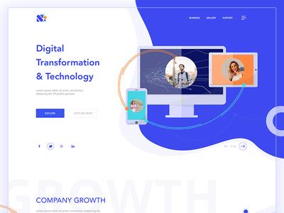 Digital Transformation landing page