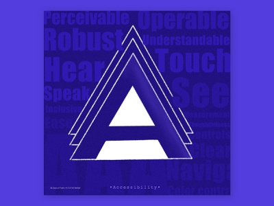 A for 'Accessibility' keyword typography minimal visual design web design illustration typography ux terminologies a-z of ux design 36daysoftype