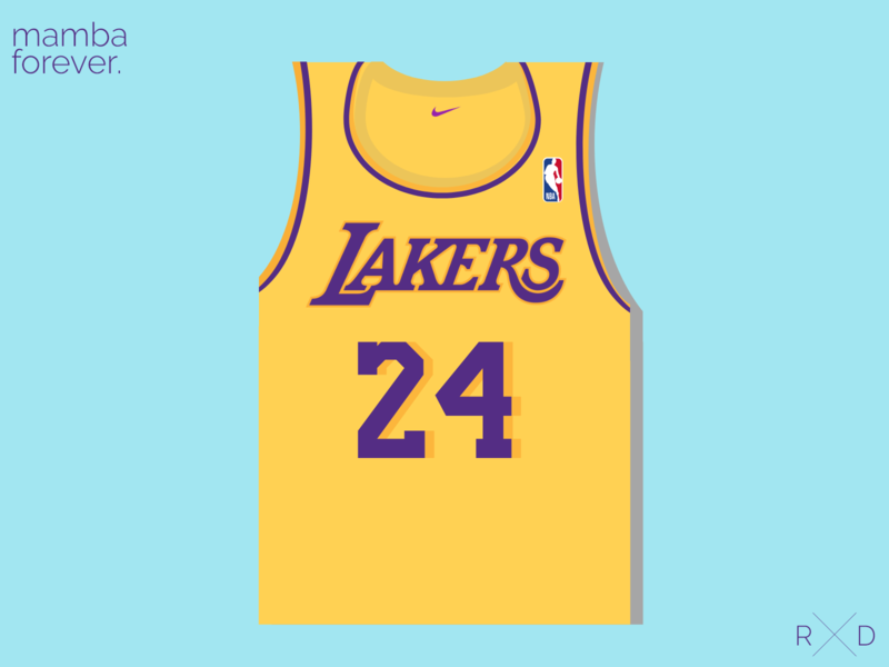 Kobe Bryant Jersey design graphics vector illustrator illustration
