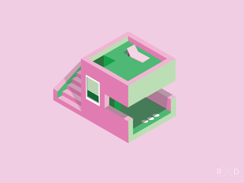 Isometric Vacation House design vector illustration isometric art isometric illustration isometric illustrator