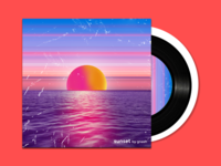 Sunset - Album Cover design branding graphics cover design cover photoshop