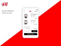H&M App Invoice UI
