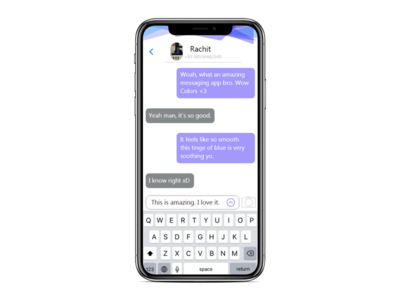 Day-13:Messaging App UI illustrator messaging app 100daysofui adobe xd