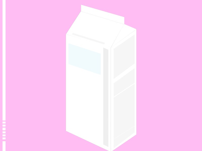 Milk Carton-Using Pastels product pink pastel minimalism abstract