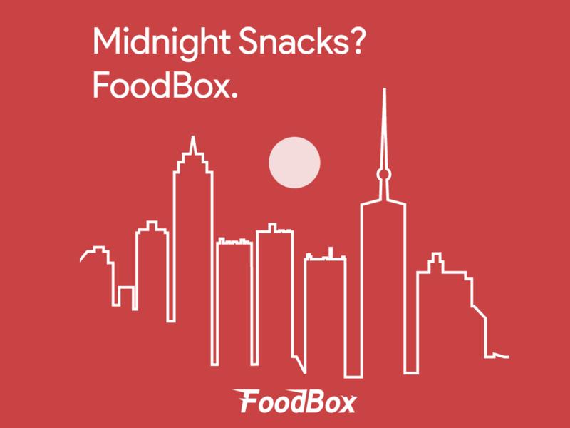 FoodBox - MidNight Snacks photoshop red social media illustration graphic
