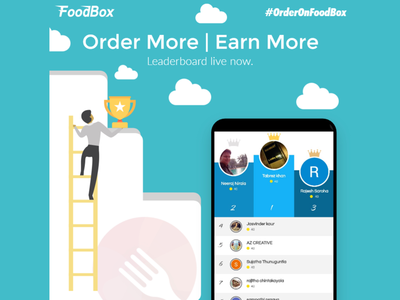FoodBox - Leaderboard Live photoshop illustrator ux ui leaderboard