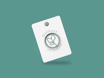 Bookuet Enamel Pin - 3 concept identity design branding logomark dusandidesign brand designer brand identity bookworm simple design logo enamel pin