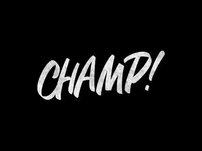 Cć / CHAMP ipadpro project behance bēhance procreate graphic design logotype logo branding types typography design lettering calligraphy