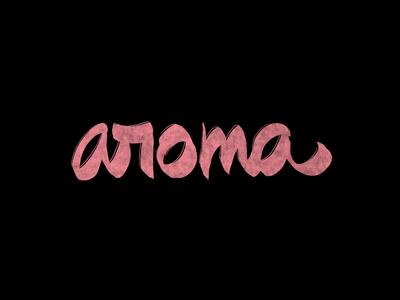 Cć / aroma ipadpro procreate bēhance behance project graphic design logotype logo branding types typography design lettering calligraphy