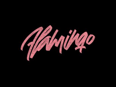 Cć / Flamingo brushes ipadpro procreate behance project graphic design bēhance logotype logo branding types typography design lettering calligraphy