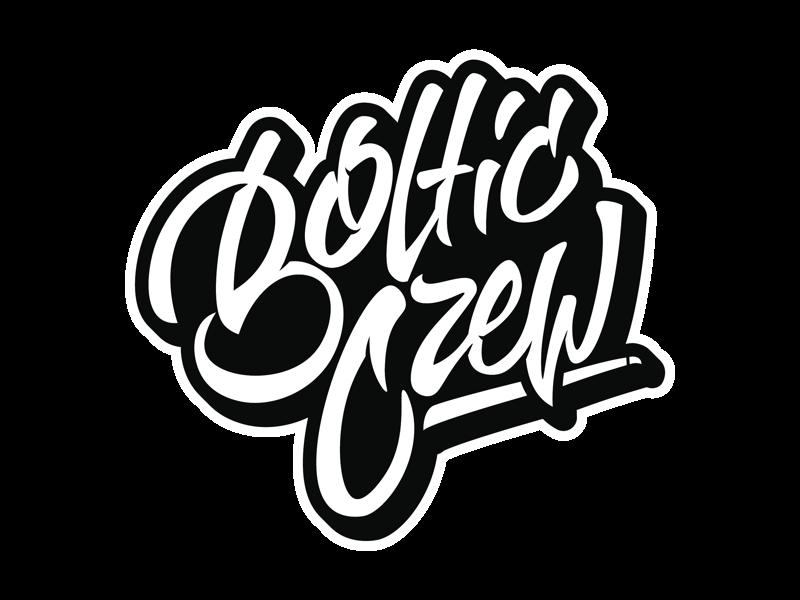 Bøltic Crew type branding design logo lettering