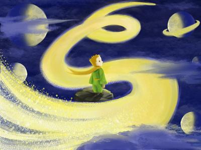 Little Prince design illustration