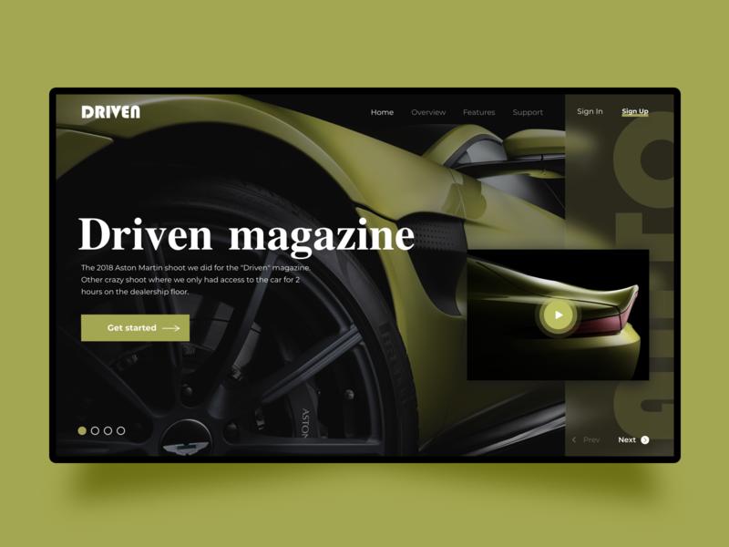 Driven web design