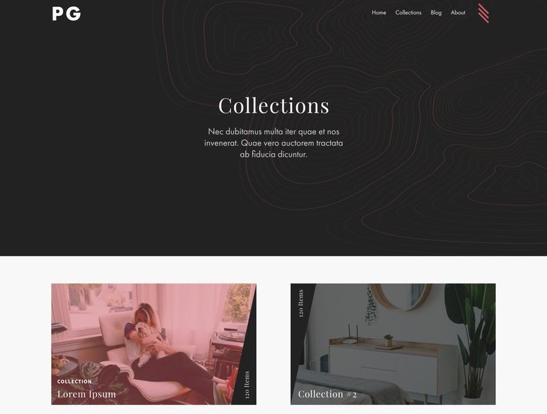 WIP: Collections Page website web design design