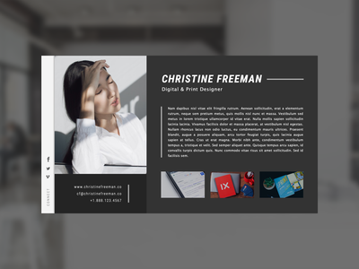 Minimal vCard / About Me website ui design about about me vcard minimal design web design ui minimal