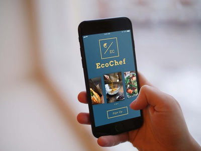 EcoChef | Sign Up Screen logo ui design dailyui 001 dailyui chef cook cooking app ios apps iosapp app signupscreen signup page appconcept iphone iphone8 ios appdesigner app design ui design