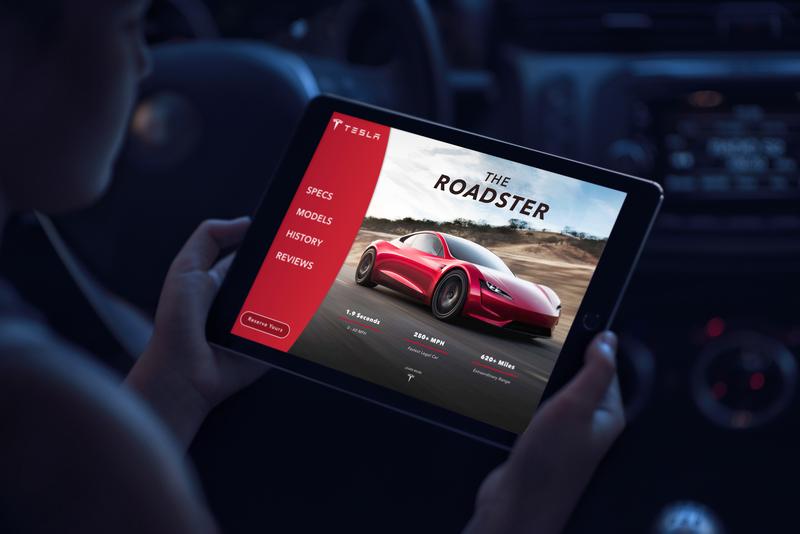 Tesla Roadster | Landing Page