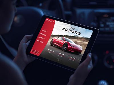 Tesla Roadster | Landing Page web vector ios logo dailyui003 cta call to action landing page design landing page tesla typography branding about website ux dailyui web design design ui ui design