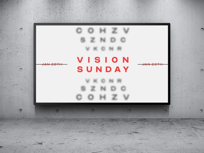 Vision Sunday - Announcement typography branding slide design design church branding church design church event