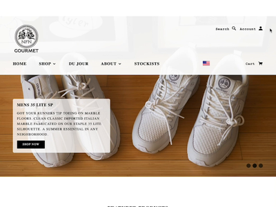 Gourmet Footwear shopify store social media web design collaboration shopify ecommerce