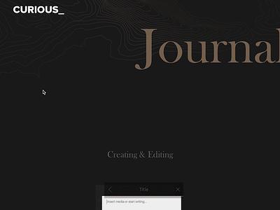 Journal - Scroll Interaction webflow app design animation interaction design icon app typography branding ui design website ux ui web design design
