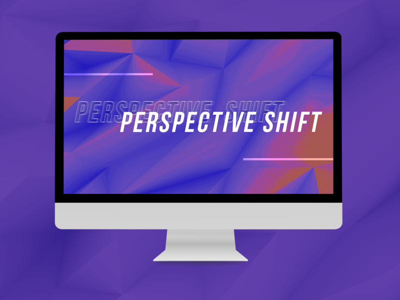 "WIP ""Perspective Shift"" - Presentation Design wip work in progress typography design presentation design presentation slide deck slides"