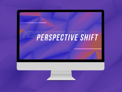 "WIP ""Perspective Shift"" - Presentation Design wip work in progress typography design presentation design presentation slide deck slides"