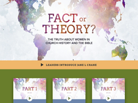 Fact or Theory - Dual Landing Page Design church design video gallery video series website branding typography design web design