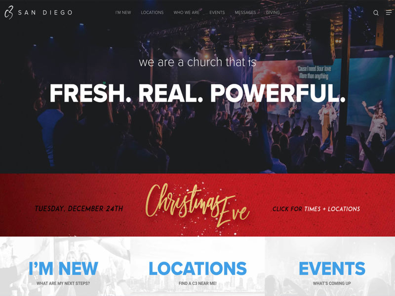 C3 San Diego: Website Design