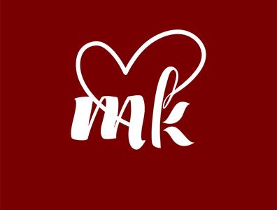 MK logo design Idea