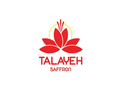 Talayeh Saffron flower sun saffron red logo