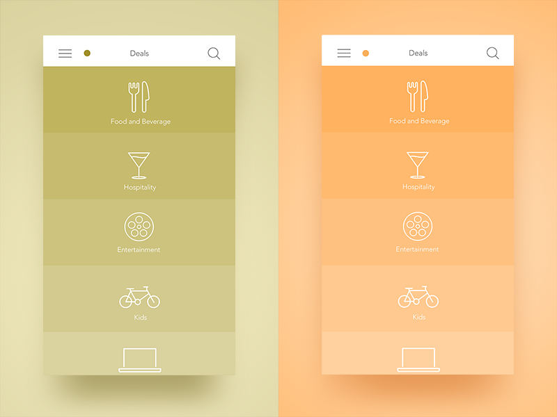 Dubai Plus Menu dubai ux flat icons colorful colors solid ios app menu ui