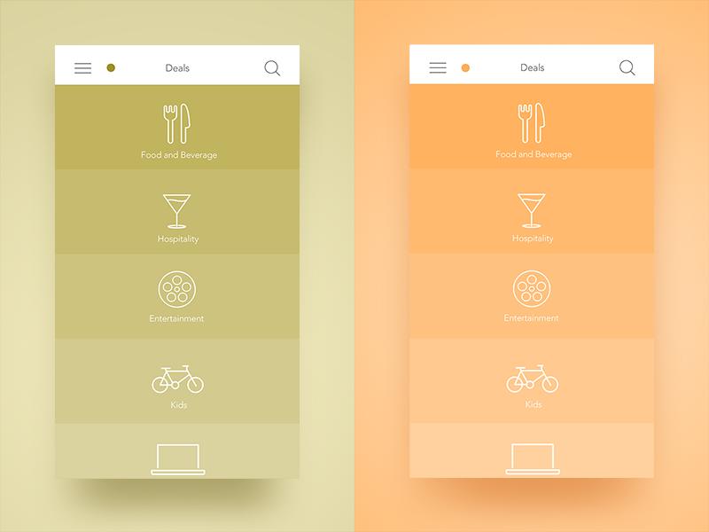 Dubai Plus Menu dubai ux flat icons colorful colors solid ios app menu ui