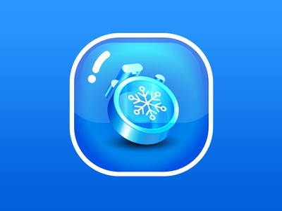 Power Ups Time Freeze Icon game blue time-freeze freeze time icon