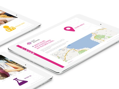 Alpha Pharmacy - Map Page simple user interface minimal simple layout responsive website interface tablet ux pink ui web map