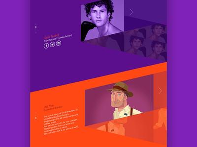 Portfolio Concept  parallex webdesign website color creative uiux ui web orange purpule portfolio