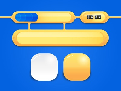 Mobile Game UI Kit Preview interface button mobile cartoon gui android kit ui game