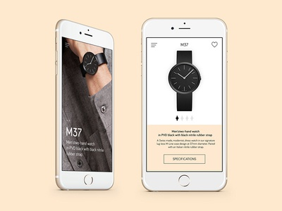 Watch Showcase App Concept - Still Version app minimal watch ui design concept