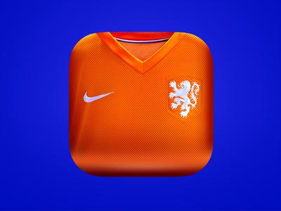Netherlands App Icon euro2016 app icon shirt soccer design appstore ios app icon netherlands